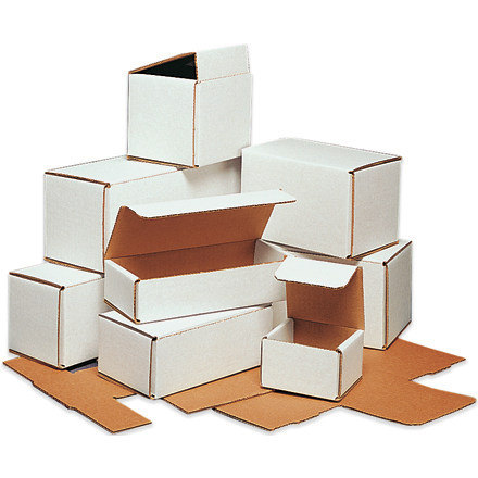 "17.5"" x 3.5"" x 3.5"" White Lightweight Light Corrugated Mailer Boxes 50 Pc"